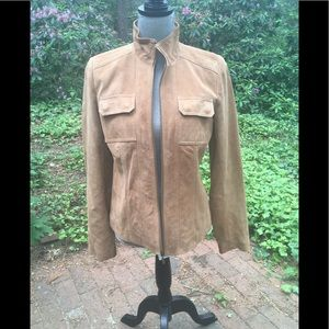 Chadwick's of Boston  tan suede jacket nwot
